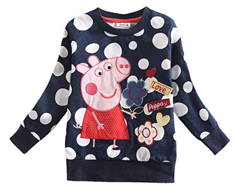 Eowsrzm Little Gril's Clothing Embroidery Long Sleeve T-shirts,3t