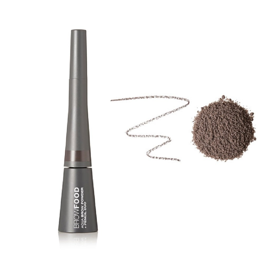 BrowFood Aqua Brow Powder Pencil Duo, Taupe