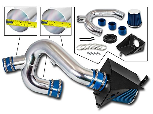 Cold Air Intake System with Heat Shield Kit Filter Combo BLUE for 12-14 Ford F150 3.5L V6 EcoBoost