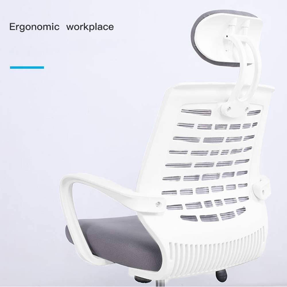 JIEER-C Sovrum hem kontor skrivbordsstol modern enkelhet skrivbordsstol lyftbord nackstöd lutning ländrygg stöd bärvikt 150 kg (färg: svart) Grått