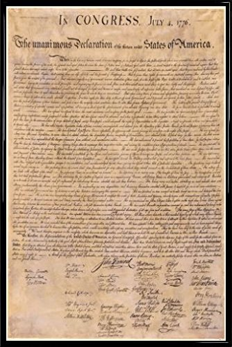 Amazon.com: USA Poster and Frame (Plastic) - The Declaration Of ...
