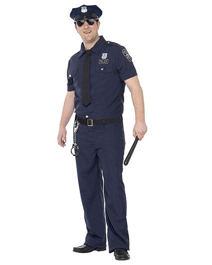 Horror-Shop NYC Traje del policía más el tamaño XL: Amazon ...