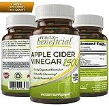 Organic Apple Cider Vinegar 1500mg - Raw, Non-GMO, Extra Strength, 120 or 180 Capsules, Vegetarian (120 Capsules)