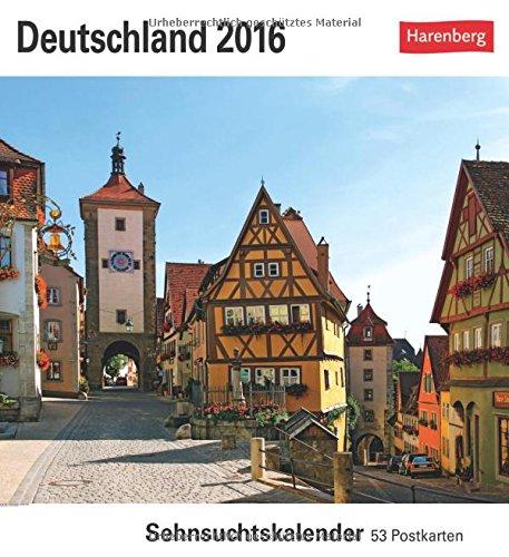 Deutschland 2016: Sehnsuchtskalender, 53 Postkarten