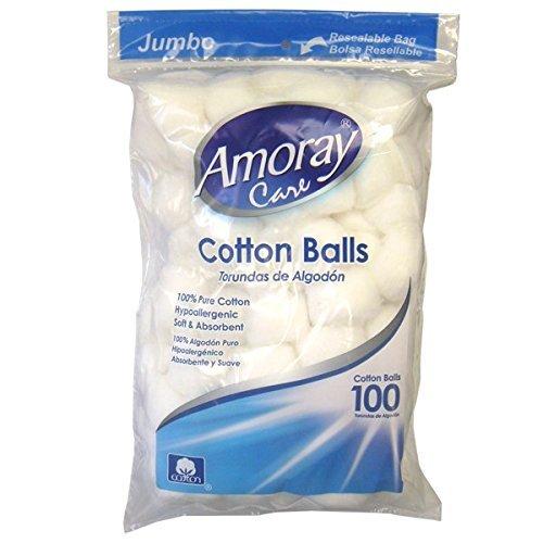 (Amoray Cotton Balls 100Ct Jumbo 2 Pack)