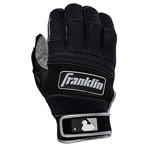 Franklin Sports MLB Adult Cold Weather Pro Batting Glove, Pair, Medium, Black/Black