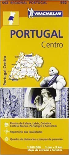mapa michelin portugal 2013 Portugal Centro Regional Map 592 (Michelin Regional Maps) by  mapa michelin portugal 2013