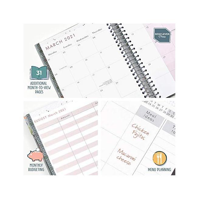 In inglese Agenda settimanale A5 piena di funzioni con elenchi perforati; sezioni planning e altro. Diario scuola 2020 2021 va da Ago /'20 a Dic /'21 Boxclever Press Life Book agenda 2020 2021