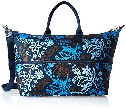 Vera Bradley Women's Lighten up Expandable Travel Bag, Java Floral Brown Expandable Bag