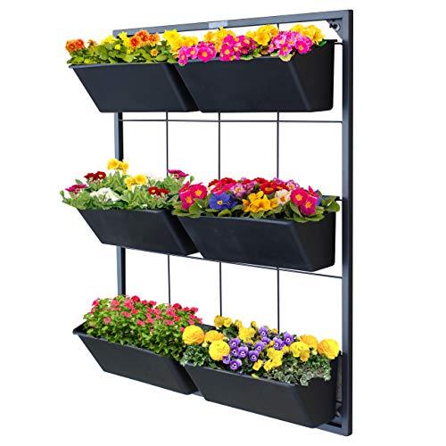 Vertical Garden Wall Planter - Wall Mounted Hanging Planter for for Flowers, Vegetables or Herb Garden