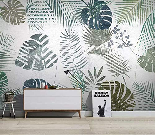 Amazon Com Murwall Banana Leaf Wallpaper Palm Leaves Wall