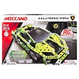 Image of Meccano - Lamborghini Huracan, 2.4 GHz RC Vehicle Model Building Set, 297 Pieces, For Ages 10+, STEM Construction Education Toy
