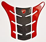Carbon Fiber & Red Motorcycle Tank Protector Pad for Ducati Monster 696 796 1100 EVO