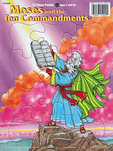 - Moses and The Ten Commandments 12 Piece Tray Puzzle Preschool