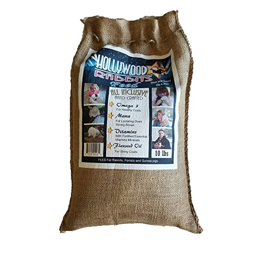(Hollywood Rabbits Feed - 10 Lb. Premium Feed | Hand Crafted High-Fiber | Probiotics for Digestive Health)