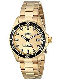 Invicta Women's 15138SYB Pro Diver 18k Gold Ion-Plated Dive Watch