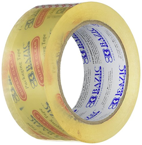 BAZIC 1.88' X 109.3 Yards Clear Packing Tape