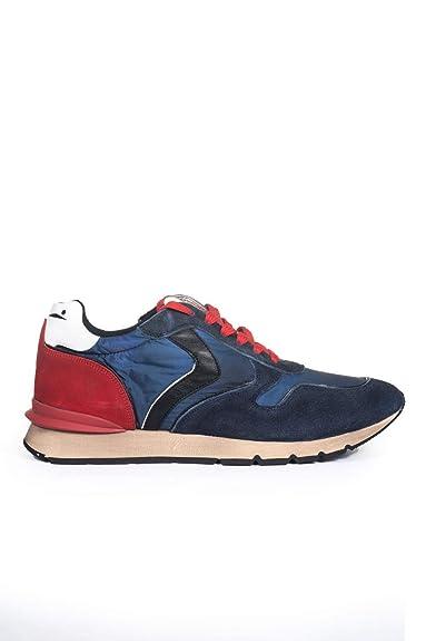 VOILE BLANCHE Sneakers con Lacci Liam Race BluRosso Pelle