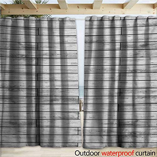 warmfamily Taupe Blackout Curtain Picture of a Parquet Grey Wood Texture Rusty Retro Antique Aged Display Striped Tile W108 x L96 Taupe Grey