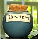 Tumbleweed 'Blessings' Ceramic Money Jar with Lid
