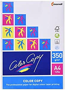 Color Copy CCA4350 - Pack de 125 hojas, 350 g, A4