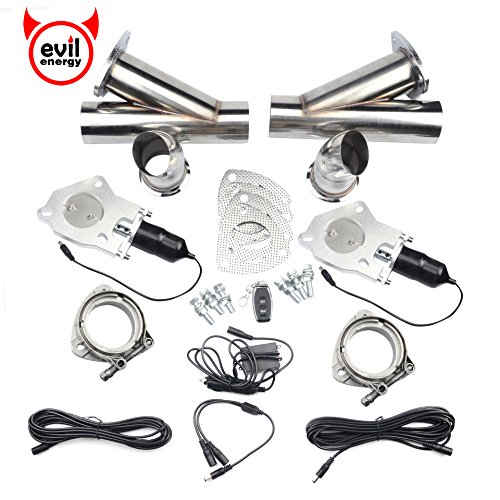 Out Cut Out - EVIL ENERGY 2.5 Inch 2PCS Exhaust Cutout Remote Valve Motor Kit