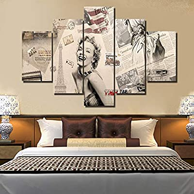 Amazon Com Marilyn Monroe Wall Art 5 Piece Canvas Pictures For