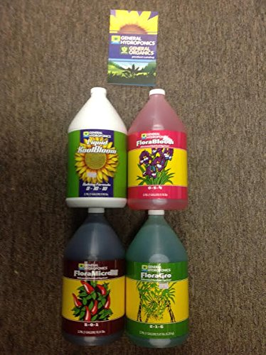 (General Hydroponics 4 Part Gallons Grow, Bloom, Micro,)