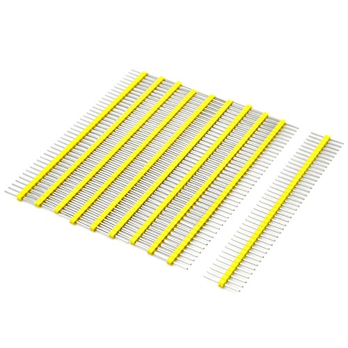 Gikfun 1 x 40 Pin 2.54mm Single Row Breakaway Male Pin Header for Arduino (Pack of 10pcs) EK1530