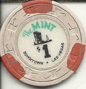 $1 the mint las vegas casino chip vintage
