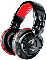 Numark Red Wave Carbon - lekkie, wysokiej jakości słuchawki DJ z przegubem obrotowym, przetworniki 50 mm, zdejmowany kabel, adapter 3,5 mm i torba