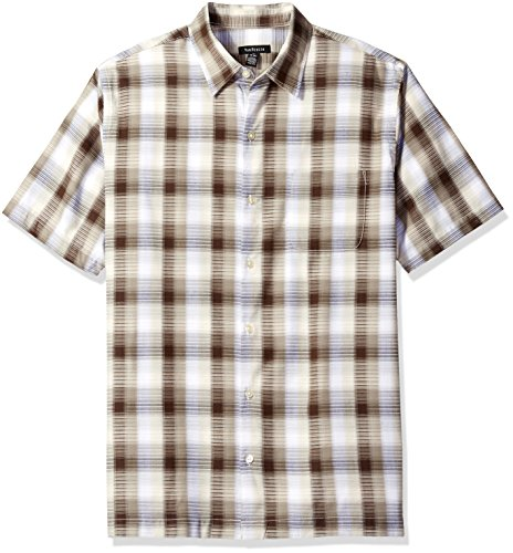 [해외]Van Heusen 남성용 면직 레이온 반소매 셔츠/Van Heusen Men`s Textured Cotton Rayon Short Sleeve Shirt
