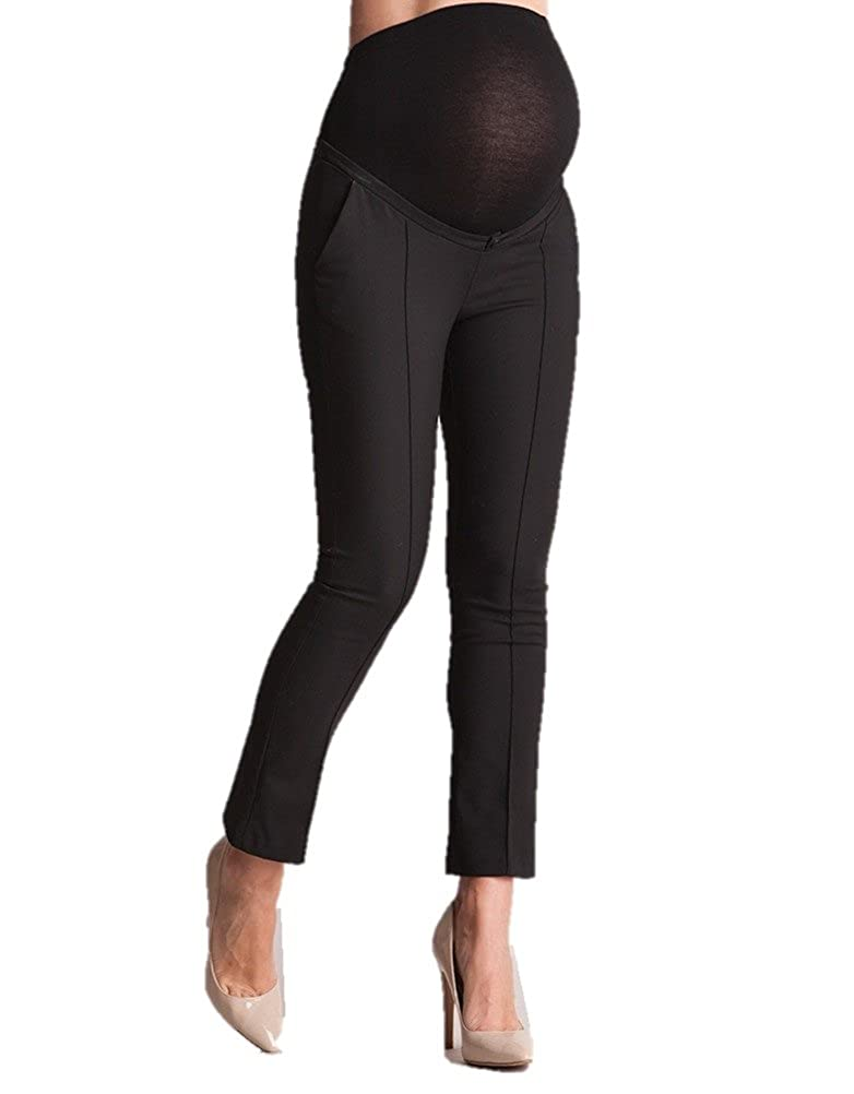 Seraphine Tailored Black Cropped Maternity Pants W050009-BLACK