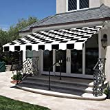 MCombo 10x8 Feet Manual Retractable Patio Door Window Awning Sunshade Shelter Outdoor Canopy
