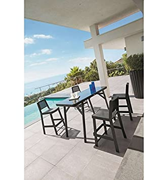 Hesperide - Table haute bertioga noire: Amazon.fr: Jardin