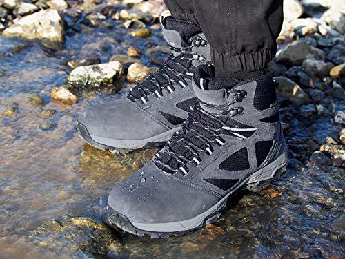 Impermeabile Scarpe Di Uomo Da Grigio Scarponi Arrampicata Escursione Passeggio Knixmax Escursionismo Stivale Trekking dFYnxI