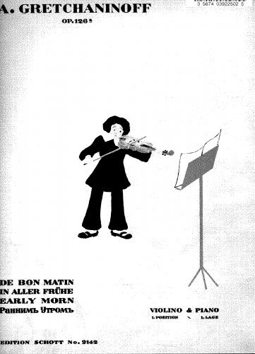 Download In Aller Frühe: 10 Kinderstücke - Piano Score and Violin part ebook