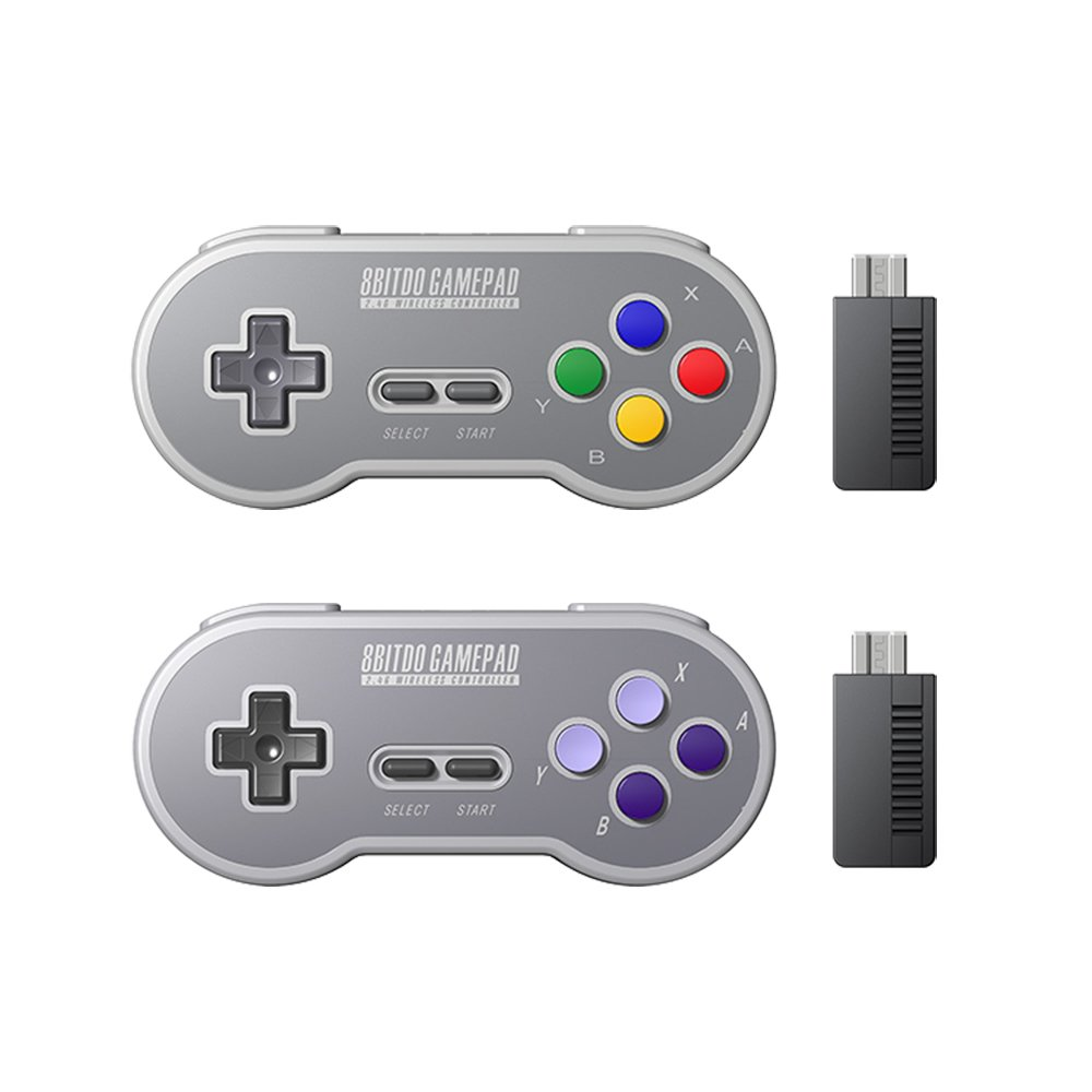 HIOTECH Wireless Controller 2.4GHz Wireless 8Bitdo SN30 Classic Video Game Joystick Gamepad for Super NES / SFC / SNES Classic Edition (Color))