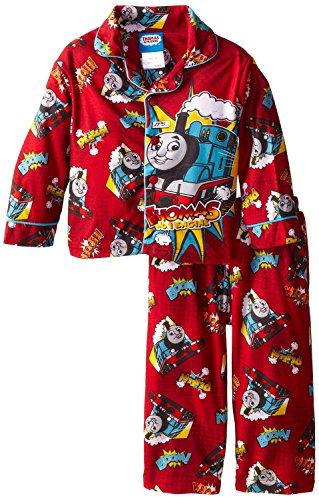 AME Sleepwear Little Thomas the Tank Engine  Trains Coat Pajama Set ,Multi ,2T (Giant Thomas The Tank Engine Train Set)