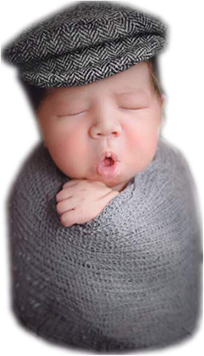 Linberfor Nouveau-n/é B/éb/é Infant Photographie Props Gar/çons Filles Tricot/é /À La Main Mohair Chapeau Pantalon