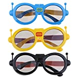 Baosity 3Pieces Children's Kids Sized 3D Glasses, Passive Circular Polarized 3D Glasses for SONY, LG, Vizio, Toshiba, LG, Philips, Panasonic and JVC 3D TV, Reald