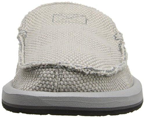 Sanuk Mens Chiba Slip-On Loafer Light Grey