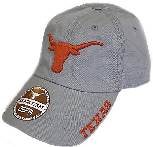 289c apparel Texas Longhorns Lt. Grey Basic Slouch Adjustable Cap