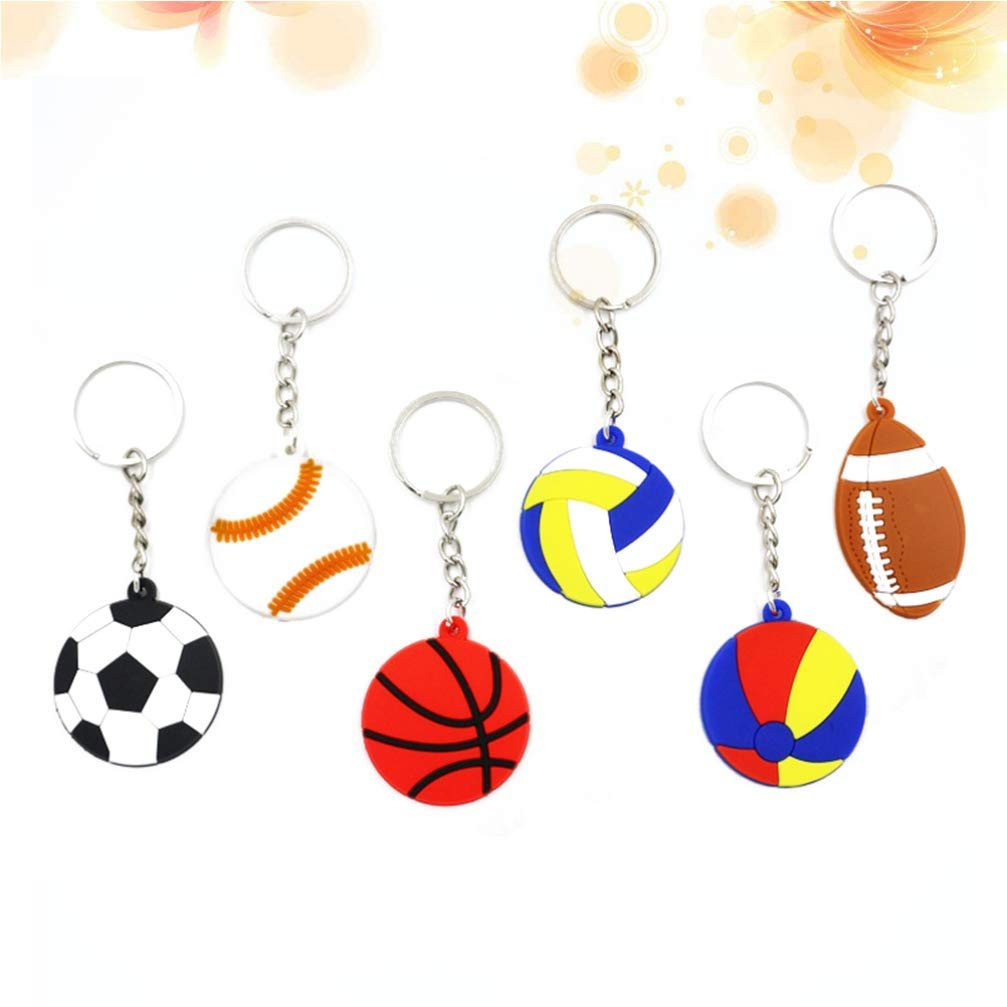 NUOBESTY - Llavero de balón de baloncesto, PVC, diseño de voleibol ...