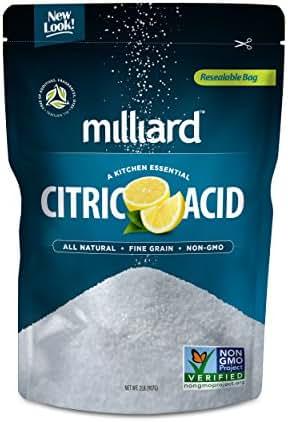 Milliard Citric Acid 2 Pound - 100% Pure Food Grade NON-GMO Project VERIFIED (2 Pound)