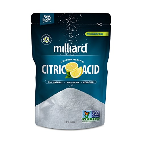 Milliard Citric Acid 2 Pound - 100% Pure Food Grade NON-GMO Project VERIFIED (2 Pound) (Hard White Ball Under Skin On Balls)