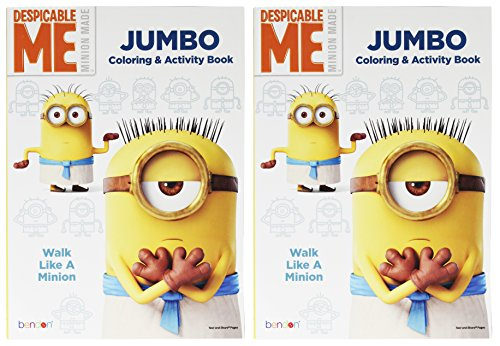 Set of 2 Despicable Me Minion Made Jumbo Coloring & Activity Book! Walk Like a Minion - 96 Pages - Tear and Share Pages - Coloring and Activity Book Perfect for any Minion Fan! (Despicable Me 2 Agnes Unicorn Costume)