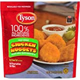 Tyson Fully Cooked Breaded Nugget Shaped Chicken Patties, 1.375 Pound - 8 per case.