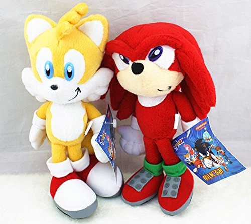 Shalleen 2pcs Sonic The Hedgehog Tails Sega Plush Doll Stuffed Figure Toy 8inch Xmas Gift - Sonic The Hedgehog Costume Australia