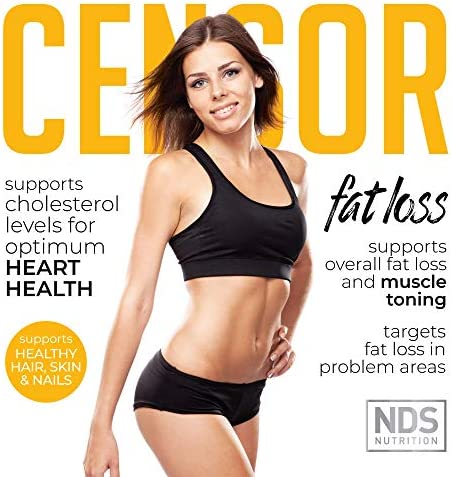 NDS Nutrition Censor - Fat Loss And Body Toner With CLA, Fish Oil, Safflower And Omega 3-6-9 Blend - Dietary Supplement For Improved Energy, Metabolism And Health - 180 Softgels 3
